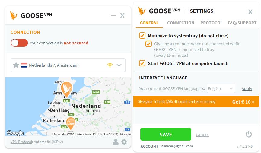 goosevpn review op windows