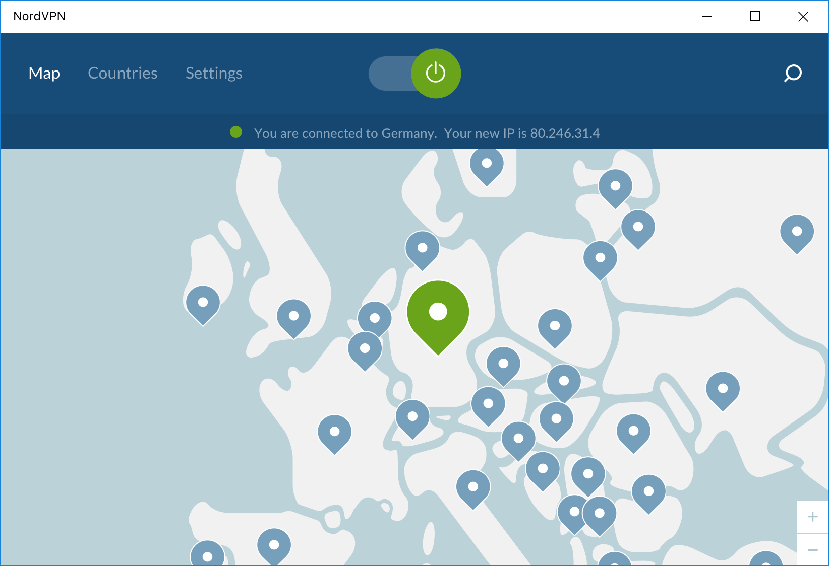 server kaart nordvpn windows